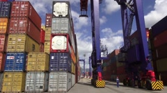 Time Lapse  of port in Rio de Janeiro Stock Footage