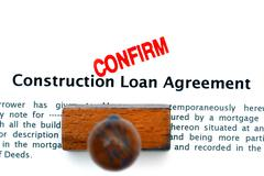 Construction loan agreement - stock photo
