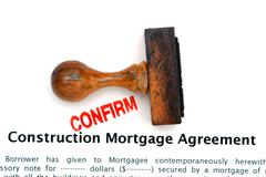 Stock Photo of Construction mortgage agreement