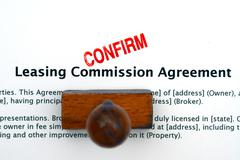 Leasing commission agreement Stock Photos