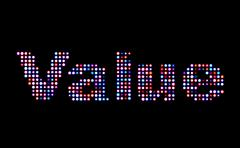 Stock Photo of value led text