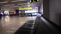 Terminal Seat & People Pull Focus - stock footage