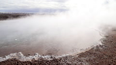 Strokkur Geysirs with geo thermals in iceland Stock Footage