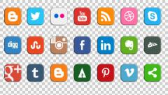 Social Media Icons Seamless Loop - stock footage