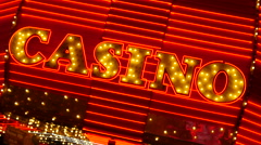 Casino Neon Stock Footage