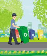 Segregation of garbage Stock Illustration