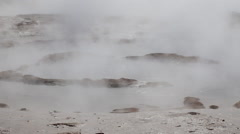 Strokkur Geysirs with geo thermals iceland with steam Stock Footage
