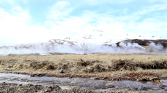 Strokkur Geysirs geo thermals iceland natural energy Stock Footage