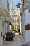 An alley in the old town Cisternino - Apulia - Italy Stock Photos