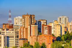 Stock Photo of Madrid, Spain high rise buildings in the Chamartin District.