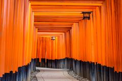 Torii Gates of Fushimi Inari Shrine - stock photo
