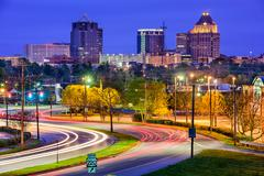 Greensboro, North Carolina Skyline Kuvituskuvat