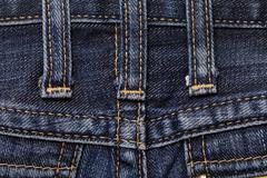 Jeans close-up seam texture - stock photo