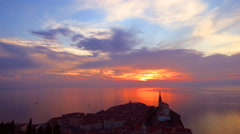 Sunset on sea in summer time Stock Footage