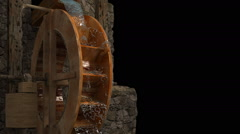 Water-mill with luma matte.3d render.HD. Stock Footage