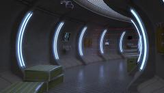 Tunnel.Teleport to the specified point in a secret laboratory. - stock footage