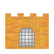 Brick Castle - stock illustration
