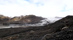 Foothills to the langjokull glacier in iceland Stock Footage