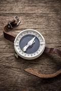 obsolete compass - stock photo