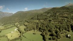 Aerial view of green mountains. High altitude. Spain Stock Footage