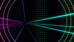 Strobing Multicolored Dot Pattern Wall  with Lazers and Circles Loop Stock Footage