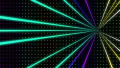 Strobing Ascending Multicolored Dot Pattern Wall with Lazers Loop - stock footage