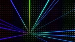 Strobing Multicolored Dot Pattern Wall with Lazers Loop - stock footage