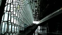 Reykjavik harpa interior 3 Stock Footage