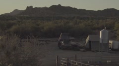 Small Western Desert Ranch Stock Footage