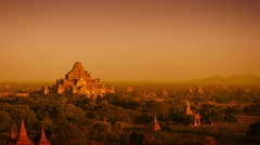 Video 3840x2160 - Landscape in Bagan, Myanmar, with the spires of ancient, Bu Stock Footage