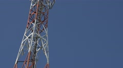 Telecommunication antenna system 4K 2160p UHD tiliting video - Outdor communi - stock footage
