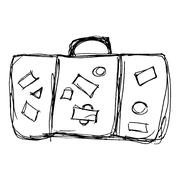illustration of an old suitcase - stock illustration