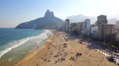 Rio de Janeiro beach aerial Stock Footage