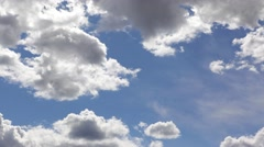 Blue sky clouds timelapse 4k time lapse big white clouds weather background Stock Footage