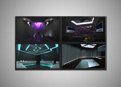 Cctv monitor display for Nightclub interior Stock Illustration