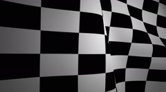 Stock Video Footage of Checkered flag waving