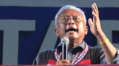 Suthep Thueaksuban Thai Protest Leader Stock Footage