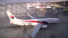 Malaysia Airlines Planes in KL Stock Footage