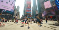 Blurred People at Times Square New York City Time Lapse 4K Stock Footage