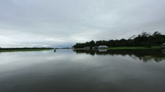Amazon River, the calm surface of the river - stock footage