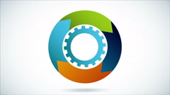 Industrial wheel Video animation Stock Footage