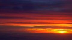 golden sunrise sunter aerial cloudscape scenic impressive beautiful 4k - stock footage