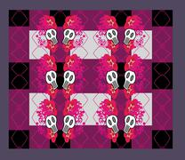 Abstract emo pattern - stock illustration