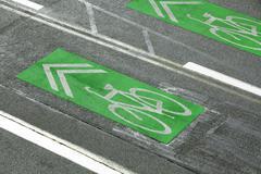 Bike Lanes - stock photo
