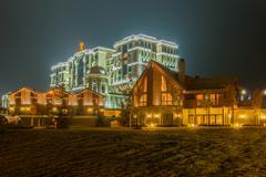 Quba - MARCH 26, 2015: Quba Rixos Hotel on March 26 in Azerbaija Stock Photos
