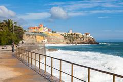 Estoril coastline near Lisbon in Portugal - stock photo
