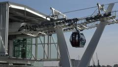 Emirates Air Line cable car, Royal Docks Terminal, London, England Stock Footage