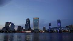 Jacksonville Skyline Stock Footage