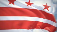 Flag of Washington DC Stock Footage