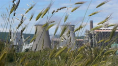 Industrial plant pollution environmental damage Stock Footage